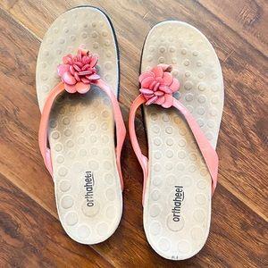 Coral Orthaheel Flip Flops